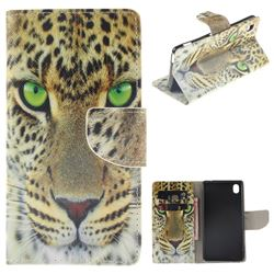 Yellow Tiger PU Leather Wallet Case for Sony Xperia M4 Aqua E2303 E2333 E2353