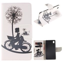 Cycling Dandelion PU Leather Wallet Case for Sony Xperia M4 Aqua E2303 E2333 E2353