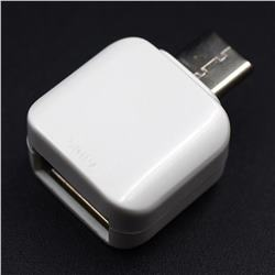 Type-C Male to USB Female Adapter OTG - White