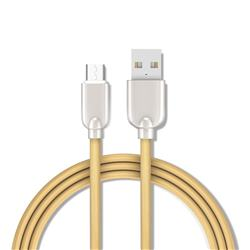 1.5m Metal Zinc Alloy Candy Micro USB Data Charging Cable for Samsung Sony LG Huawei Xiaomi Phones - Gold