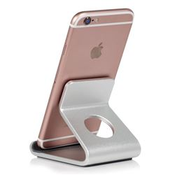 Universal Aviation Aluminum Alloy Mobile Phone Holder - Silver