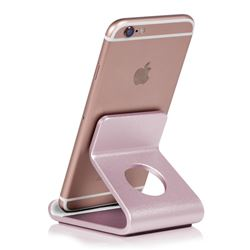 Universal Aviation Aluminum Alloy Mobile Phone Holder - Pink