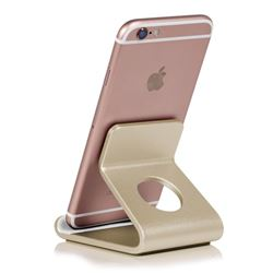 Universal Aviation Aluminum Alloy Mobile Phone Holder - Champagne