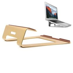 Universal Aluminum Alloy Stand Holder Pad for Apple Macbook Thinkpad Laptop - Champagne