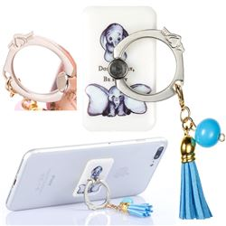 Universal 360 Rotation Stylish Holder Finger Ring Kickstand with Tassel for Mobile Phone Folding - Be Happy Elephant