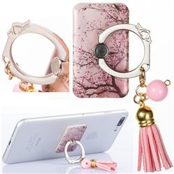 Universal 360 Rotation Stylish Holder Finger Ring Kickstand with Tassel for Mobile Phone Folding - Cherry Tree