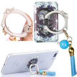 Universal 360 Rotation Stylish Holder Finger Ring Kickstand with Tassel for Mobile Phone Folding - Cloud Kito