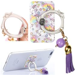 Universal 360 Rotation Stylish Holder Finger Ring Kickstand with Tassel for Mobile Phone Folding - Angel Horse
