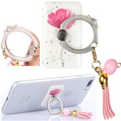 Universal 360 Rotation Stylish Holder Finger Ring Kickstand with Tassel for Mobile Phone Folding - Watercolor