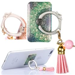 Universal 360 Rotation Stylish Holder Finger Ring Kickstand with Tassel for Mobile Phone Folding - Finger Flower