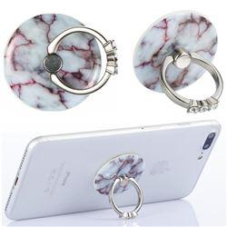 Flexible Universal 360 Rotation Stylish Holder Finger Ring Kickstand for Mobile Phone Folding - Marble