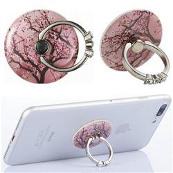 Flexible Universal 360 Rotation Stylish Holder Finger Ring Kickstand for Mobile Phone Folding - Cherry Tree