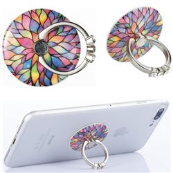 Flexible Universal 360 Rotation Stylish Holder Finger Ring Kickstand for Mobile Phone Folding - Colorful Lotus