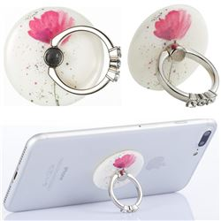 Flexible Universal 360 Rotation Stylish Holder Finger Ring Kickstand for Mobile Phone Folding - Watercolor