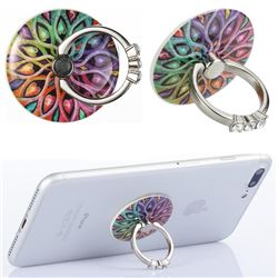 Flexible Universal 360 Rotation Stylish Holder Finger Ring Kickstand for Mobile Phone Folding - Spider Flowers