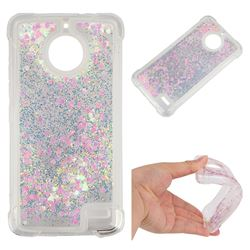 Dynamic Liquid Glitter Sand Quicksand Star TPU Case for Motorola Moto E4 - Pink