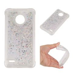 Dynamic Liquid Glitter Sand Quicksand Star TPU Case for Motorola Moto E4 - Silver