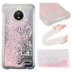 Dynamic Liquid Glitter Sand Quicksand TPU Case for Motorola Moto E4(Europe) - Silver Powder Star
