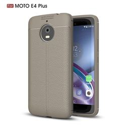 Luxury Auto Focus Litchi Texture Silicone TPU Back Cover for Motorola Moto E4(Europe) - Gray