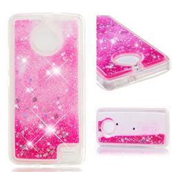 Dynamic Liquid Glitter Quicksand Sequins TPU Phone Case for Motorola Moto E4(Europe) - Rose
