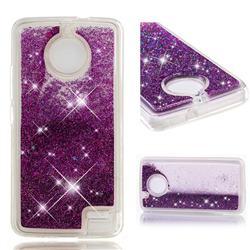 Dynamic Liquid Glitter Quicksand Sequins TPU Phone Case for Motorola Moto E4(Europe) - Purple