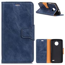 MURREN Luxury Crazy Horse PU Leather Wallet Phone Case for Motorola Moto E4(Europe) - Blue