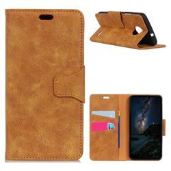 MURREN Luxury Retro Classic PU Leather Wallet Phone Case for Motorola Moto E4(Europe) - Yellow