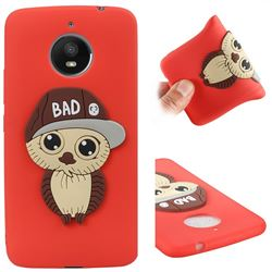 Bad Boy Owl Soft 3D Silicone Case for Motorola Moto E4 Plus(Europe) - Red