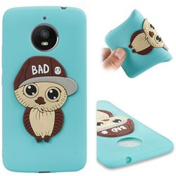 Bad Boy Owl Soft 3D Silicone Case for Motorola Moto E4 Plus(Europe) - Sky Blue