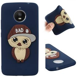 Bad Boy Owl Soft 3D Silicone Case for Motorola Moto E4 Plus(Europe) - Navy