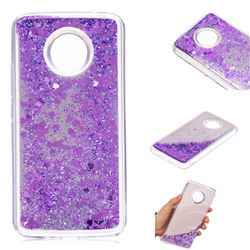Glitter Sand Mirror Quicksand Dynamic Liquid Star TPU Case for Motorola Moto E4 Plus(Europe) - Purple