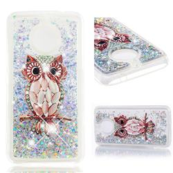 Seashell Owl Dynamic Liquid Glitter Quicksand Soft TPU Case for Motorola Moto E4 Plus(Europe)