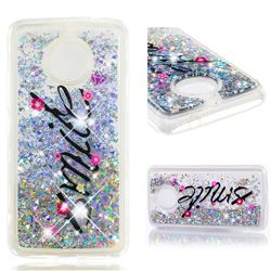 Smile Flower Dynamic Liquid Glitter Quicksand Soft TPU Case for Motorola Moto E4 Plus(Europe)