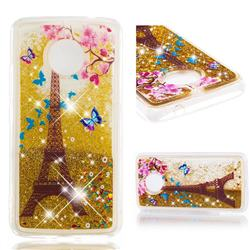 Golden Tower Dynamic Liquid Glitter Quicksand Soft TPU Case for Motorola Moto E4 Plus(Europe)
