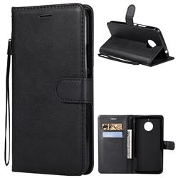 Retro Greek Classic Smooth PU Leather Wallet Phone Case for Motorola Moto E4 Plus(Europe) - Black
