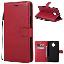 Retro Greek Classic Smooth PU Leather Wallet Phone Case for Motorola Moto E4 Plus(Europe) - Red