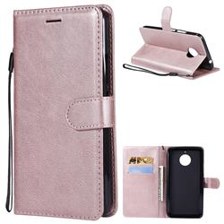 Retro Greek Classic Smooth PU Leather Wallet Phone Case for Motorola Moto E4 Plus(Europe) - Rose Gold