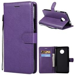 Retro Greek Classic Smooth PU Leather Wallet Phone Case for Motorola Moto E4 Plus(Europe) - Purple