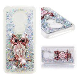 Seashell Owl Dynamic Liquid Glitter Quicksand Soft TPU Case for Motorola Moto E5