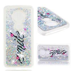 Smile Flower Dynamic Liquid Glitter Quicksand Soft TPU Case for Motorola Moto E5