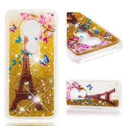 Golden Tower Dynamic Liquid Glitter Quicksand Soft TPU Case for Motorola Moto E5