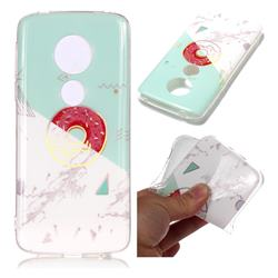 Donuts Marble Pattern Bright Color Laser Soft TPU Case for Motorola Moto E5