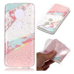 Matching Color Marble Pattern Bright Color Laser Soft TPU Case for Motorola Moto E5