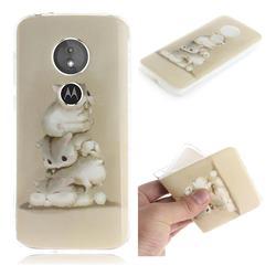 Three Squirrels IMD Soft TPU Cell Phone Back Cover for Motorola Moto E5