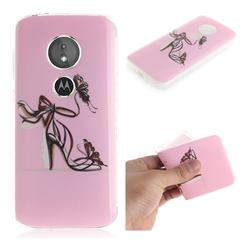 Butterfly High Heels IMD Soft TPU Cell Phone Back Cover for Motorola Moto E5