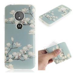 Magnolia Flower IMD Soft TPU Cell Phone Back Cover for Motorola Moto E5