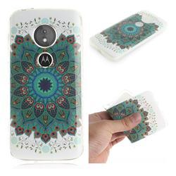 Peacock Mandala IMD Soft TPU Cell Phone Back Cover for Motorola Moto E5
