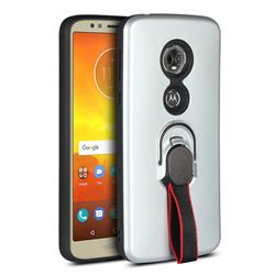 huge discount 6f5dd 85b77 Raytheon Multi-function Ribbon Stand Back Cover for Motorola Moto E5 -  Silver