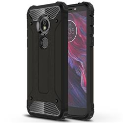 King Kong Armor Premium Shockproof Dual Layer Rugged Hard Cover for Motorola Moto E5 - Black Gold