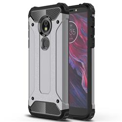 King Kong Armor Premium Shockproof Dual Layer Rugged Hard Cover for Motorola Moto E5 - Silver Grey